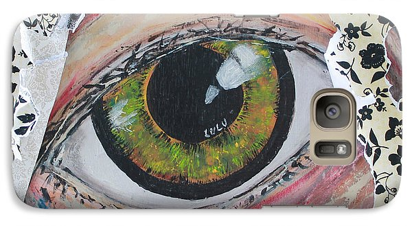 Galaxy Case featuring the painting Big Brother by Lucy Matta