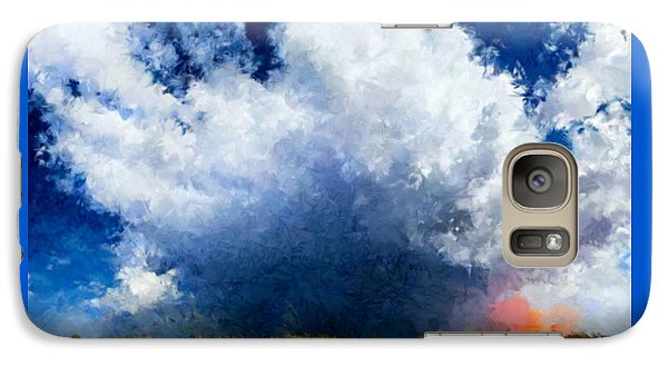 Galaxy Case featuring the painting Big Cloud In A Field by Bruce Nutting