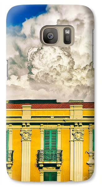Galaxy Case featuring the photograph Big Cloud Over City Building by Silvia Ganora