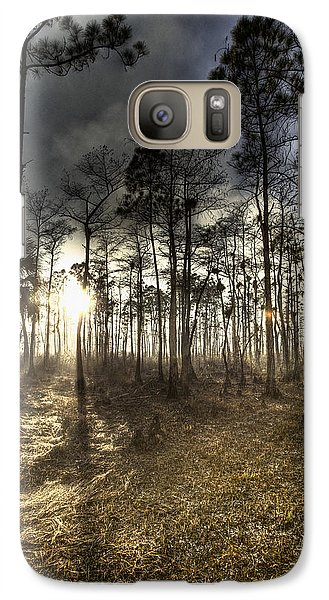 Galaxy Case featuring the photograph Big Cypress Fire At Sunset by Bradley R Youngberg