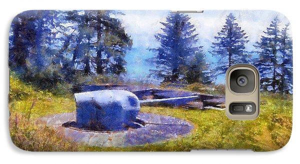 Galaxy Case featuring the digital art Big Gun At Chinook Point by Kaylee Mason