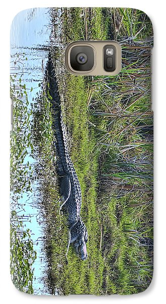 Galaxy Case featuring the photograph Big Old Gator by Gregory Scott