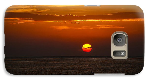 Galaxy Case featuring the photograph Big Orange Ball by Phil Abrams