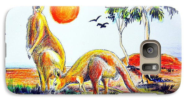 Galaxy Case featuring the painting Big Reds Kangas by Roberto Gagliardi