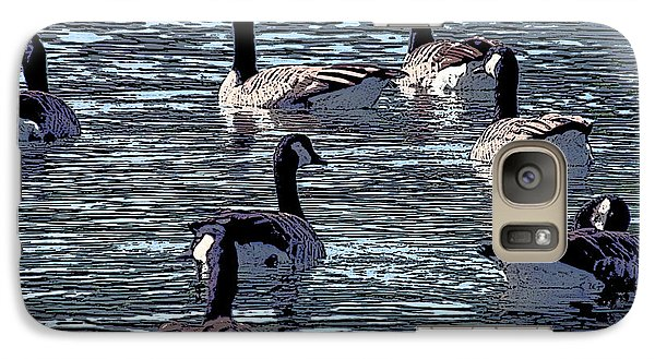 Galaxy Case featuring the digital art Big Spring Goose Art I   by Lesa Fine