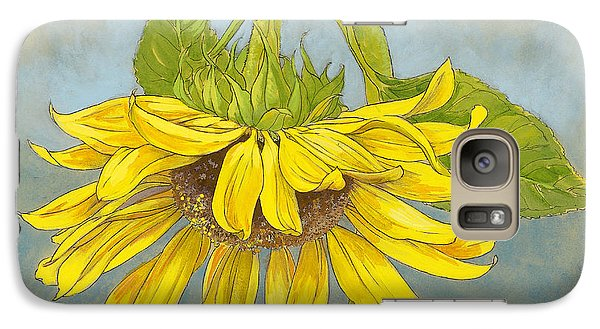 Big Sunflower Galaxy Case by Tracie Thompson