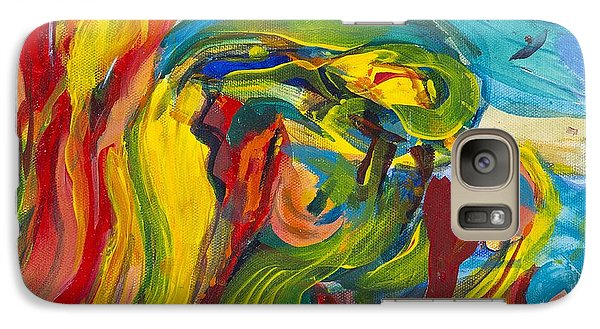 Galaxy Case featuring the painting Big Sur by Cathy Long