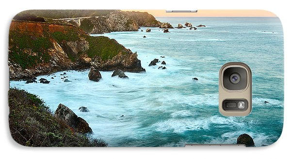 Big Sur Sunrise Galaxy Case by Jamie Pham