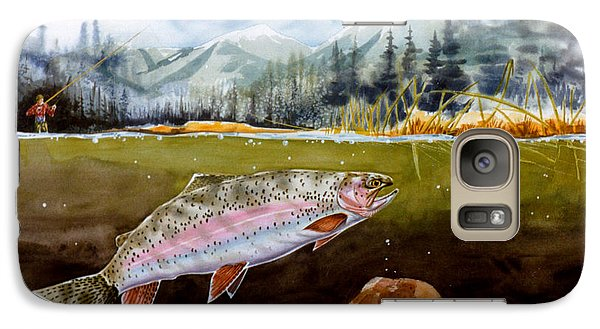 Galaxy Case featuring the painting Big Thompson Trout by Craig T Burgwardt
