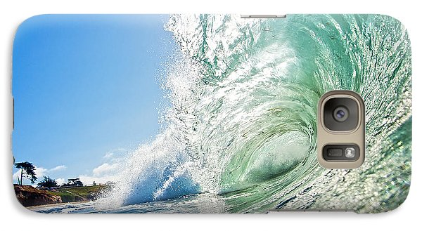 Galaxy Case featuring the photograph Big Wave On The Shore by Paul Topp