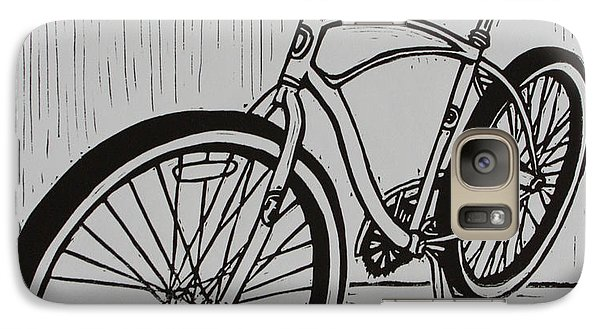 Galaxy Case featuring the drawing Bike 6 by William Cauthern