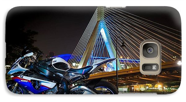 Galaxy Case featuring the photograph Bike And Bridge by Lawrence Christopher