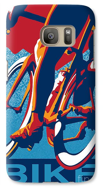 Bicycle Galaxy S7 Case - Bike Hard by Sassan Filsoof