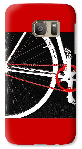 Bicycle Galaxy S7 Case - Bike In Black White And Red No 2 by Ben and Raisa Gertsberg