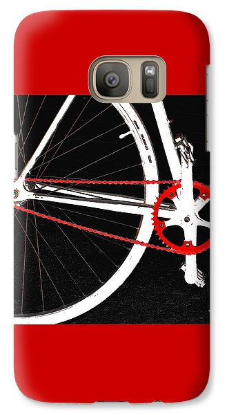Bike In Black White And Red No 2 Galaxy S7 Case