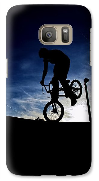 Galaxy Case featuring the photograph Bike Silhouette by Joel Loftus