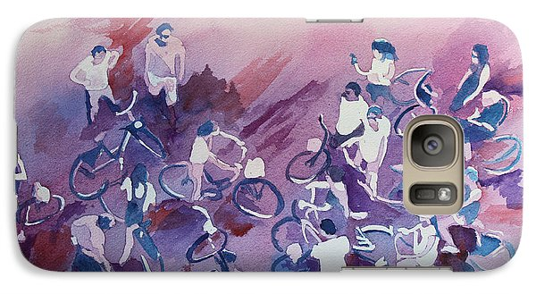 Bicycle Galaxy S7 Case - Bike Tour by Jenny Armitage