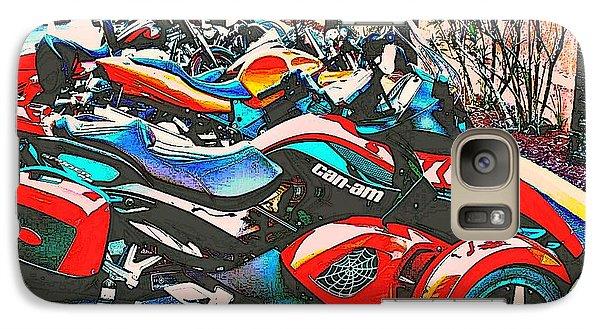 Galaxy Case featuring the photograph Bike Week Daytona by Irma BACKELANT GALLERIES