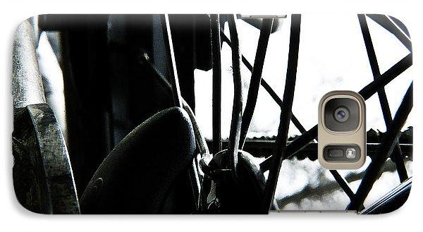 Galaxy Case featuring the photograph Bike Wheel by Joel Loftus