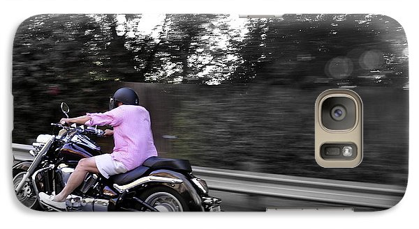 Galaxy Case featuring the photograph Biker by Gandz Photography