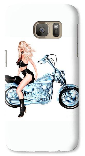 Biker Girl Galaxy S7 Case
