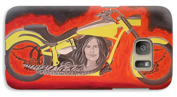 Galaxy Case featuring the painting Biker by Jeepee Aero
