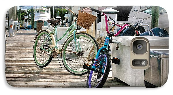 Galaxy Case featuring the photograph Bikes On The Dock by Phil Mancuso