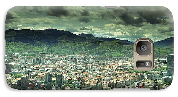 Galaxy Case featuring the photograph Bilbao Panoramic  by Mariusz Czajkowski