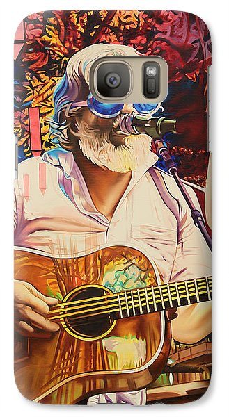 Galaxy Case featuring the painting Bill Nershi At Horning's Hideout by Joshua Morton
