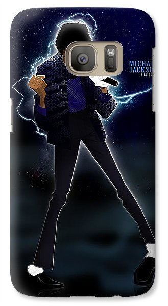 Galaxy Case featuring the drawing Billie Jean by Nelson Dedos Garcia