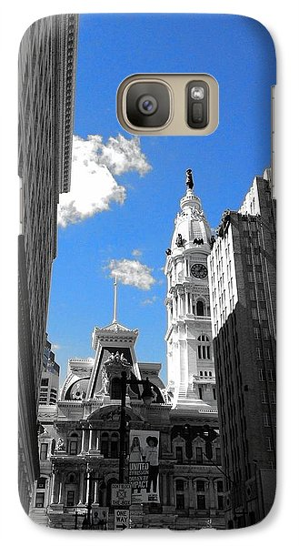 Galaxy Case featuring the photograph Billy Penn Blue by Photographic Arts And Design Studio
