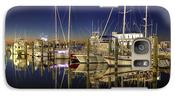 Galaxy Case featuring the photograph Biloxi Harbor by Maddalena McDonald