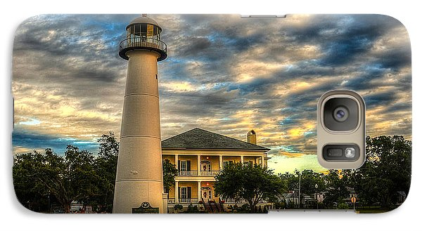 Galaxy Case featuring the photograph Biloxi Lighthouse And Welcome Center by Maddalena McDonald