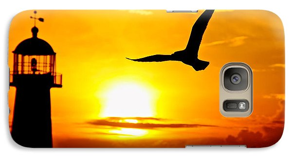 Galaxy Case featuring the photograph Biloxi Lighthouse Sunset by Jim Albritton