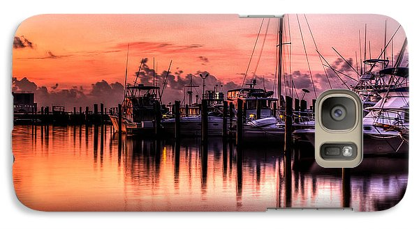 Galaxy Case featuring the photograph Biloxi Mississippi Harbor by Maddalena McDonald