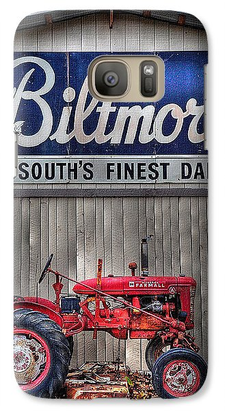 Galaxy Case featuring the photograph Biltmore Farmall by Craig T Burgwardt