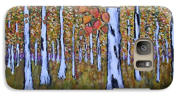 Galaxy Case featuring the painting Birch Autumn by Zeke Nord