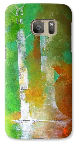 Galaxy Case featuring the painting Birch In Fall Colors by Gary Smith