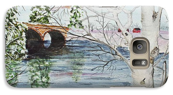 Galaxy Case featuring the painting Birch Tree Crossing by Jack G  Brauer