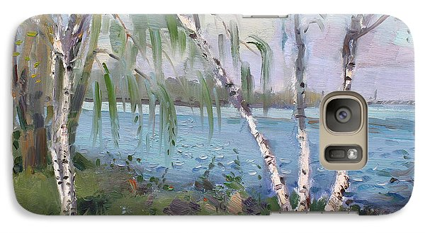 Goat Galaxy S7 Case - Birch Trees By The River by Ylli Haruni