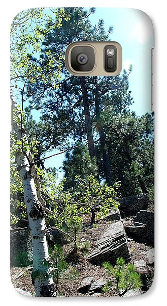 Galaxy Case featuring the photograph Birch Trees by Dany Lison
