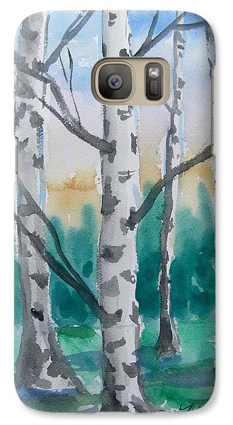 Galaxy Case featuring the painting Birch Trees by Melinda Saminski