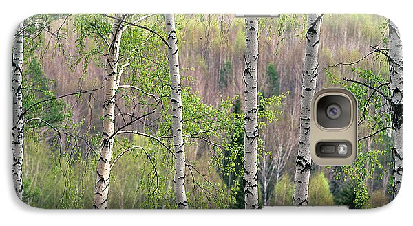 Galaxy Case featuring the photograph Birch Trees by Vladimir Kholostykh