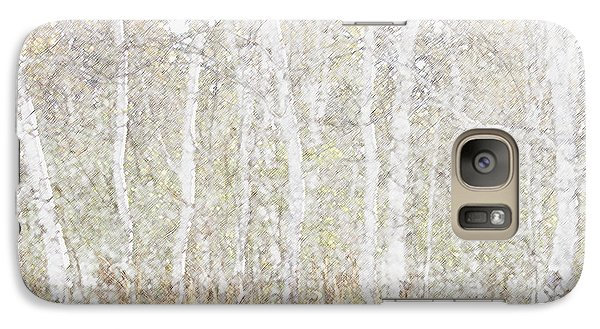 Galaxy Case featuring the photograph Birches In Colored Pencil by Susan Crossman Buscho