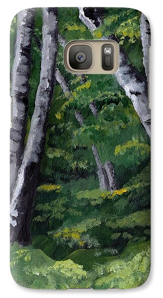 Galaxy Case featuring the painting Birches by Jesslyn Fraser