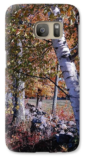 Galaxy Case featuring the photograph Birches by Mim White