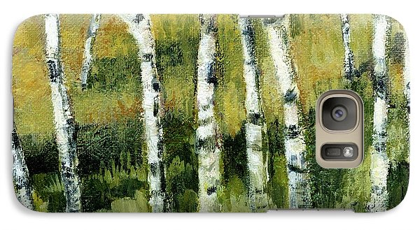 Birches On A Hill Galaxy S7 Case by Michelle Calkins