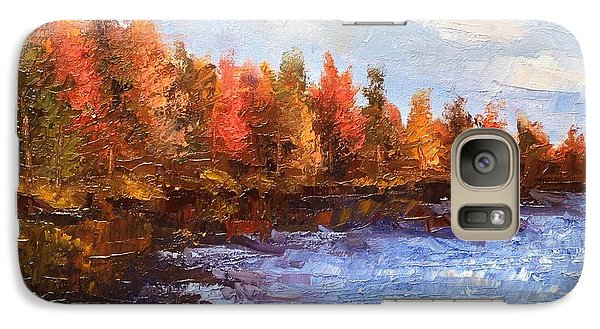 Galaxy Case featuring the painting Birchwood Lake by Jason Williamson