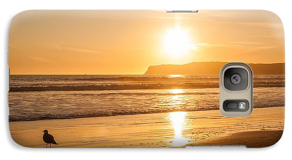 Galaxy Case featuring the photograph Bird And His Sunset by John Wadleigh