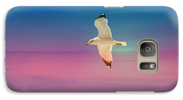 Galaxy Case featuring the photograph Bird At Sunset by Athala Carole Bruckner